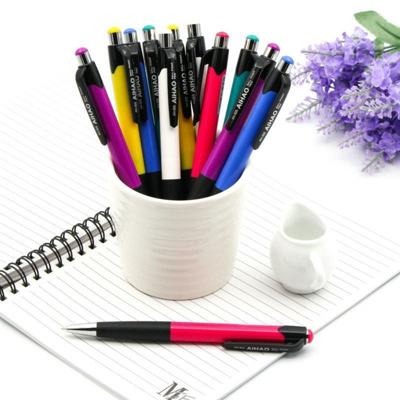 12 pcs/Lot Blue ink color ballpoint pen 0.7mm roller ball office pens Stationery