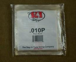 Single Strings S.I.T. Sized .010 Plain Steel - $1.76