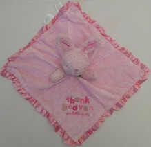 Carters Child Pink Bunny Lovey Rattle Thank Heaven Little Girls Baby Toy... - $22.49