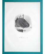 RICHARD GILMOUR Scotland Born Ohio Cleveland Bishop - 1883 Superb Portra... - $19.80
