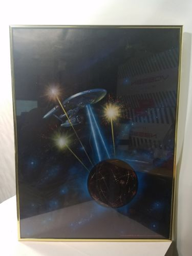 STARCON 1975 MOVIE POSTER COLLECTIBLE GOLD FRAMED Art by FRANK KELLY FREAS