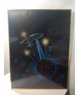 STARCON 1975 MOVIE POSTER COLLECTIBLE GOLD FRAMED Art by FRANK KELLY FREAS - $29.39