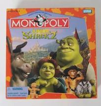 Shrek 2 Monopoly JR Board Game Parker Brothers 2004 - $10.62