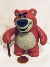 Disney Pixar Toy Story Lotso Huggin Bear With Cane Figure Toy Cake Toppe... - $16.97