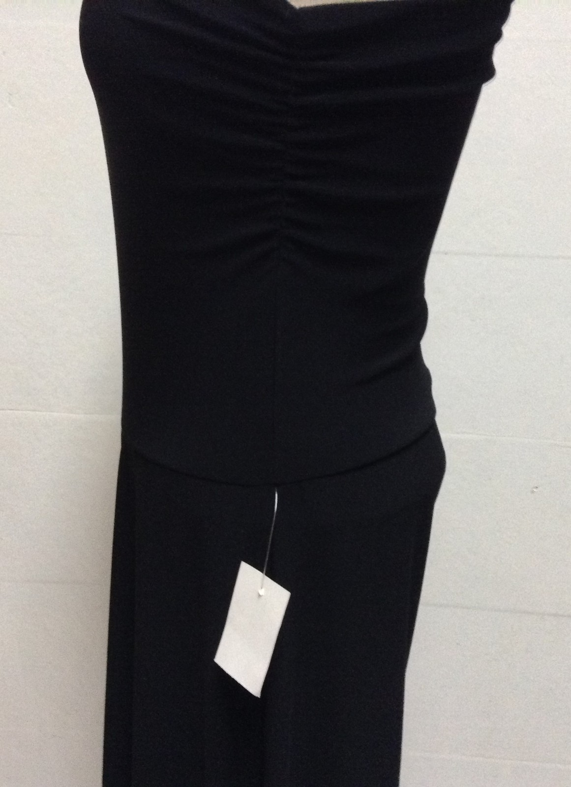 Charlotte Russe One Piece Halter Pant Dress Black NWT Sz S