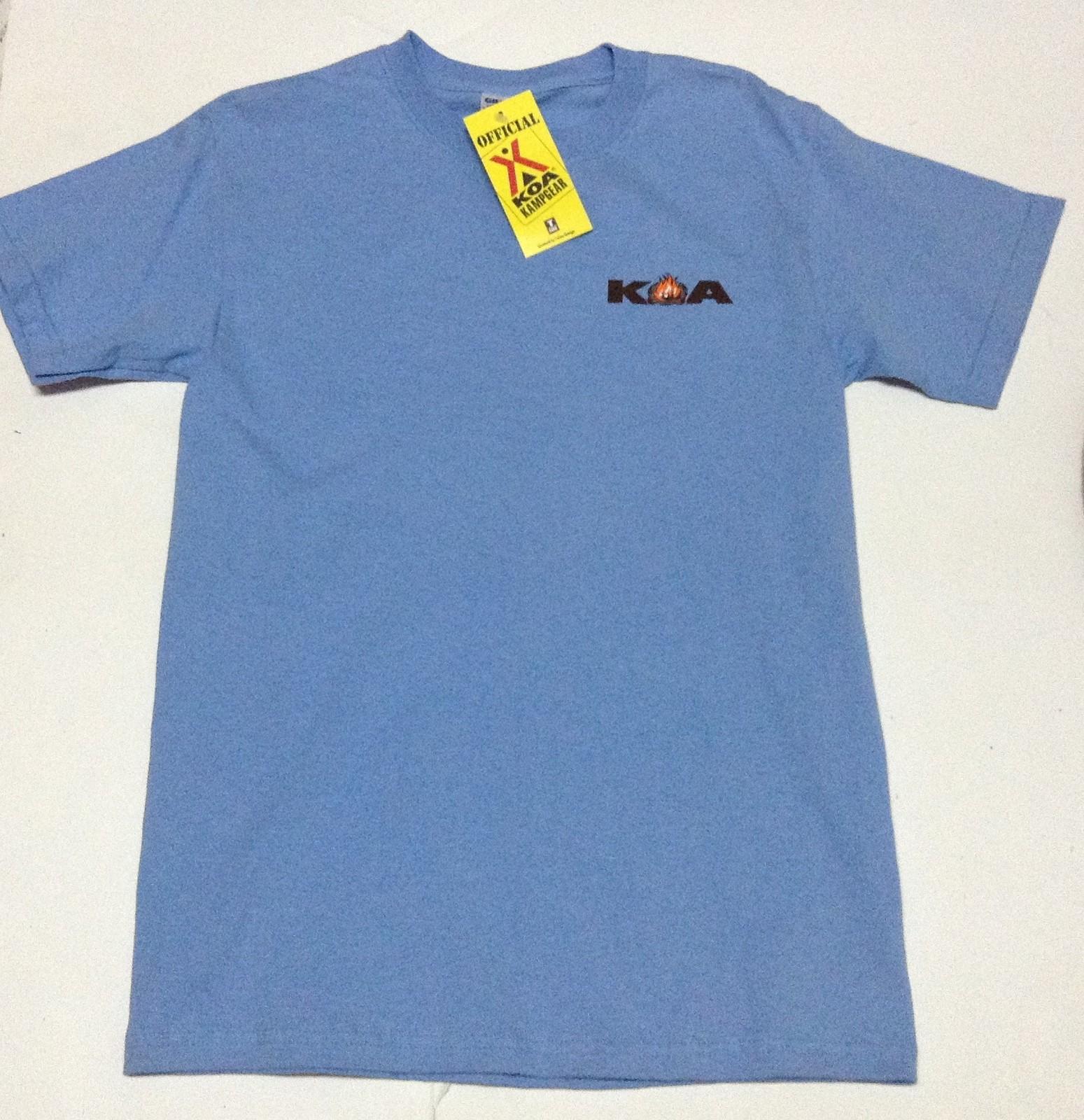 KOA Kamp Gear Short Sleeve NWT T-Shirt Official Sz Adult S Blue Ultra Cotton