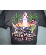 Harley davidson charcoal t shirt large kauai  hawaii nwt 6 thumbtall