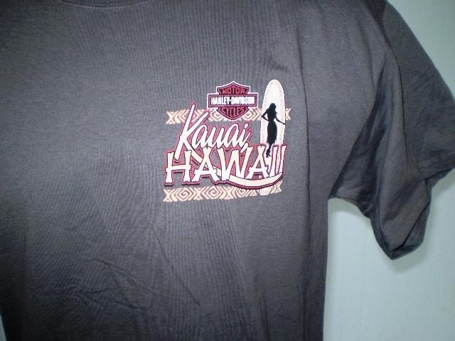 Harley-Davidson Charcoal T-Shirt Large Kauai, Hawaii NWT image 3