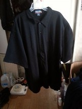2XL CATALINA BAY Men's Casual Shirt BLACK -Short SLEEVE button down   NE... - $5.45