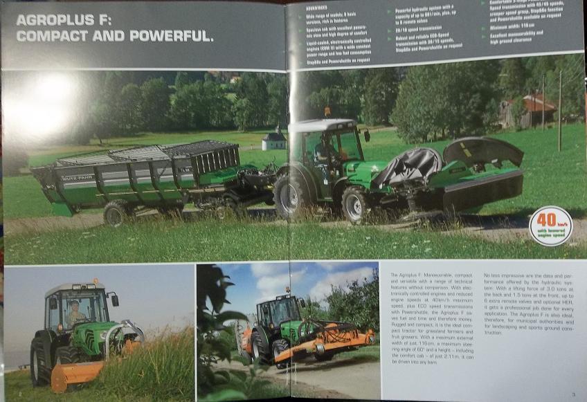 Deutz-Fahr Agroplus F70, F75, F90, F100 Tractors Brochure