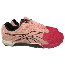 Rare Womens Reebok CrossFit CF7 Pink Black Size 10 Workout Shoes Sneakers - $39.93