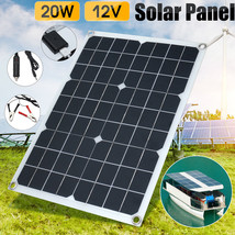 20W 12V Car Boat Yacht Solar Panel Trickle Battery Charger Outdoor Power... - €44,37 EUR