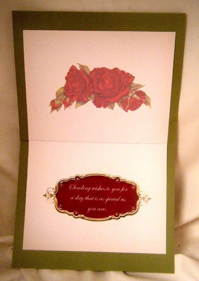 Handmade greeting card elegant red roses multi occasion for Elegant homemade christmas cards