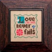 Love Never Fails cross stitch chart Heart In Hand  - $7.65