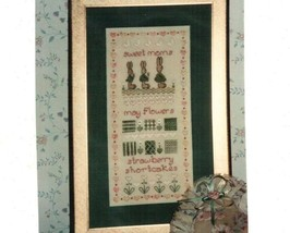 CLEARANCE M is for May spring OOP cross stitch chart Elegant Designs - $3.75