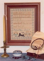 CLEARANCE Phebe Allen Sampler 1817 cross stitch Margaret & Margare - $3.00