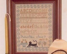 CLEARANCE Phebe Allen Sampler 1817 cross stitch Margaret & Margare