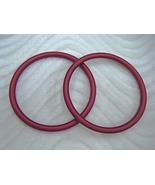 Raspberry Aluminum Rings Designed fr Baby Slings Carriers Make yr own Ri... - $6.00