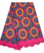African Swiss Voile Lace w/Rhine Stones Traditional Bridal Fashions Fabr... - $158.40