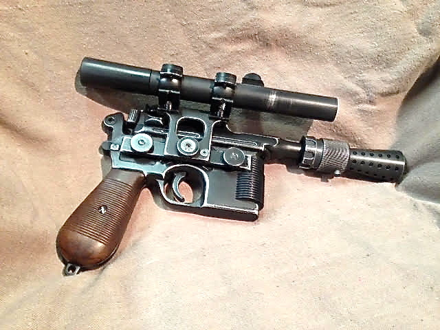STAR WARS HAN SOLO BLASTER HERO VERSION ALL STEEL HAND MADE ONLY HERE SEE WOW !!