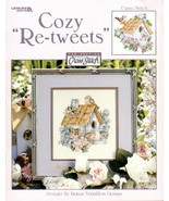 CLEARANCE Cozy Re-Tweets cross stitch chart Leisure Arts  - $4.00