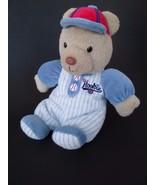 "Carters Little Rookie Baseball Plush Bear Rattle Lovey 10"" Long - $17.59"