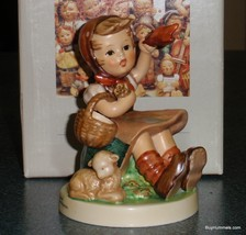 """Farewell"" Goebel Hummel Figurine #65 TMK6 Girl Waving Goodbye - MINT WITH BOX! - $126.09"