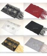 Sequin Shawl Rose Flower Beads Scarf Wrap Fringe Fashion Gift Elegant Em... - $10.35