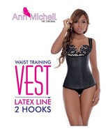 Ann Michelle 2027 / Ann Chery 2027 Vest in Black and Nude - $59.99