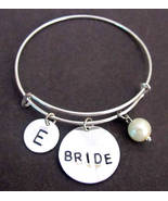 Personalized Bride bracelet, Bride bangle, Bride bracelet, Gift for bride - $15.60