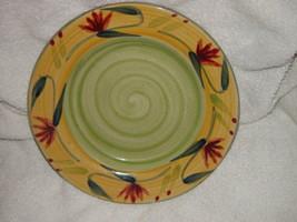 "Elizabeth  8"" Salad Dessert Plates Yellow Handpainted Pier 1 - $12.00"