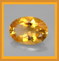 4.01ct Orange CITRINE Oval Cut 12x10mm Faceted Natural Loose Gemstone - $59.99