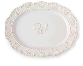 Ceramic White Monogram Initial Oval Serving Pla... - $29.99