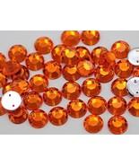 10mm SS46 Orange Hyacinth H125 Sew On Rhinestones - 70 Pieces - $5.42