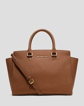 MICHAEL Michael Kors Saffiano Leather Selma Large Top Zip Satchel -NWT -... - $300.00
