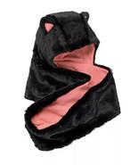 Girls Faux-Fur Hooded Infinity Scarf, Cat Ears Fleece Lined, Black & Pin... - $12.65