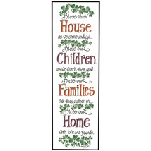 Old Irish Sentiment Bless Our House Children Fa... - $7.47