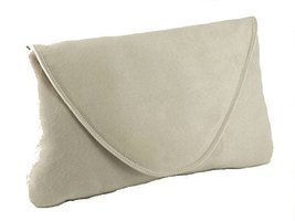 Loni Womens Attractive Large Faux Suede Clutch Bag/Shoulder Bag Wedding ... - €25,99 EUR