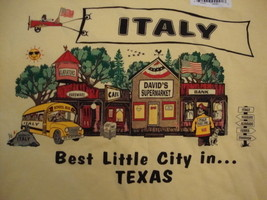 ITALY Texas Tourist Vacation yellow NEW T shirt M - $11.34