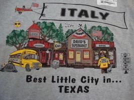 ITALY Texas Tourist Vacation gray grey NEW T shirt S - $11.34