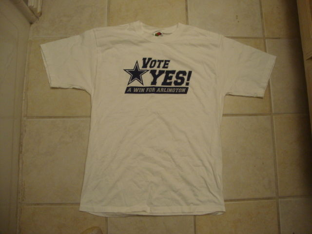 Rare NFL DALLAS COWBOYS Vote YES for Arlington New Sadium t shirt L a17ef1a31
