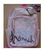 HANNAH MONTANA Tan Canvas Full Size Backpack Rucksack NEW Book Bag Miley... - $22.99