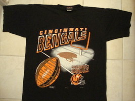 Vintage NFL Cincinnati BENGALS magic johnson brand intense T Shirt L XL - $15.78