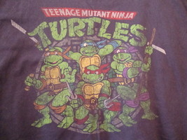 Teenage Mutant Ninja Turtles Navy Blue Cartoon Distressed T Shirt 2XL - $15.09
