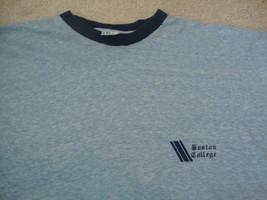 Vintage NCAA Boston College Eagles Champion Brand Blue Bar tag ringer t shirt M - $24.69