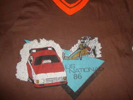 Vintage 80's 1986 US National Drag Racing Dragster hot rod muscle car T ... - $32.61