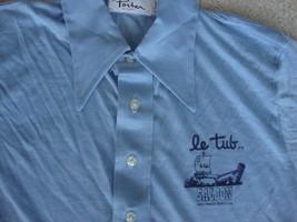 Vintage Le tub Saloon Bar Hollywood Beach Florida nandel 70's collar Shi... - $29.74