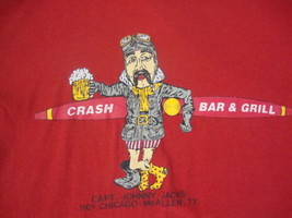 Vintage Crash Bar & Grill McAllen Texas airplane Beer Pilot soft thin T shirt M - $25.68