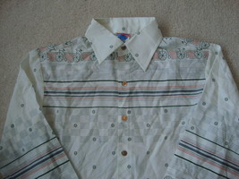 VTG 70's Put On Shop For the Teen Male Disco Bicycle Collar Button Down ... - $24.69