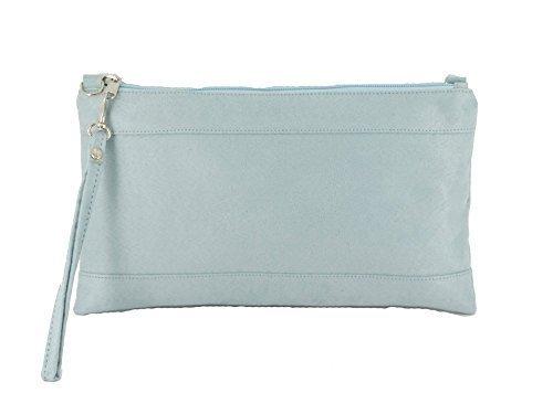 Loni Womens Divine Faux Suede Clutch/Shoulder/Crossbody/Wristlet Bag Size Lar...